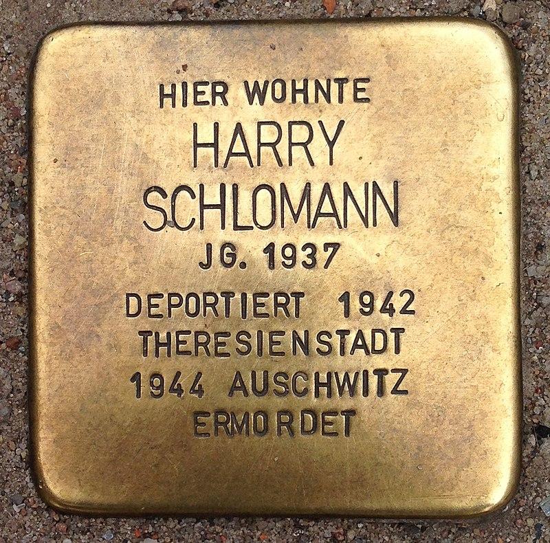 Stolperstein Malchow Lange Straße 43 Harry Schlomann