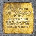 Stolperstein Ruth Bobrowsky Esch-Alzette, 49 rue Léon Weirich 01.jpg
