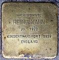 Stolpersteine Heidelberg, Heinz Kahn (Bunsenstraße 7).jpg
