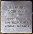 Stolpersteine Köln, Jakob Henle (Redwitzstraße 87).jpg