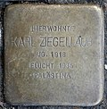 Stumbling stone for Karl Ziegellaub (Thieboldsgasse 102)