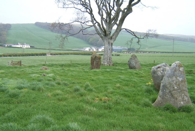 Stone Circle near St Colmac Farm - geograph.org.uk - 1314389