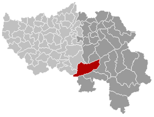 Stoumont - Image: Stoumont Liège Belgium Map
