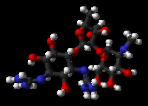 Streptomycin - Image: Streptomycin 1ntb xtal 3D balls
