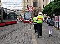 Strossmayerovo náměstí, tramvaje a dispečeři.jpg