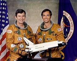 John Young (links) und Robert Crippen