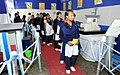 Student at the exhibition stalls of the Public Health Engineering Department were showcasing the Rural Water Supply and Total Sanitation, during the Public Information Campaign, at the Rangia under Kamrup district of Assam.jpg