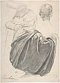 Studies of a Draped Female Figure, Kneeling, Seen from the Back, for the East Transept of the Chruch of Sainte-Clothilde, Paris MET DP807355.jpg