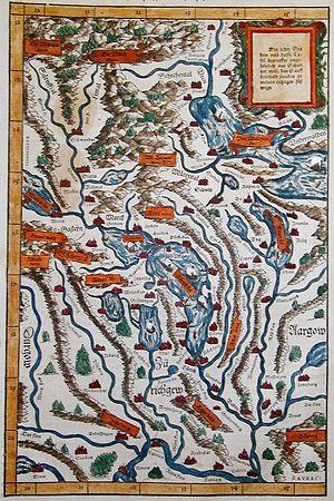 Johann Stumpf (writer) - The Swiss region around Zurich.