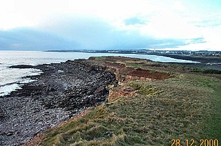 A small tidal island off the northern coast of the Bristol Channel near Cardiff