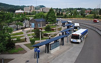Sunset Transit Center - The bus portion of the transit center
