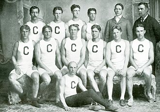 Edwin Sweetland - 1899 Cornell Varsity Rowing Team: E. R. Sweetland is third from the left in the middle row