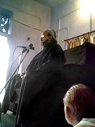 Syed Ali Nasir Saeed Abaqati - Agha Roohi addressing a Majlis