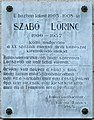 Szabó Lőrinc plaque (Balassagyarmat Szabó Lőrinc u 10).jpg