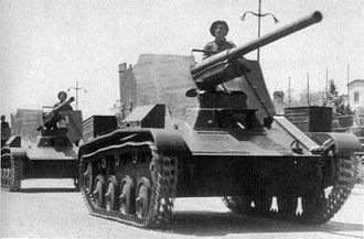Romania in World War II - A Romanian TACAM T-60 during the National Day parade, 10 May 1943.