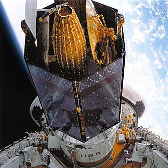 STS-26 - The TDRS is prepared for deployment.