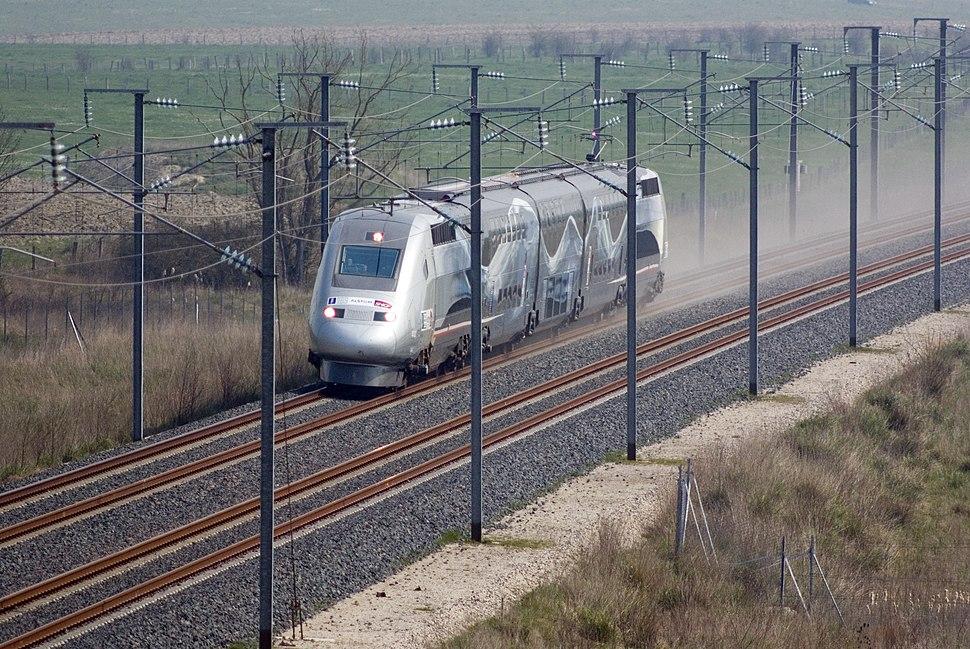TGV World Speed Record 574 km per hour