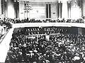 THEODOR HERZL AT THE FIRST OR SECOND ZIONIST CONGRESS IN BASEL IN 1897-98. תאודור הרצל בקונגרס הציוני הראשון או השני - שנת 1897-1898..jpg
