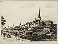 TLA 1465 1 4333 repro maalist Rannavärava mäe piirkond, taamal Oleviste kirik.jpg