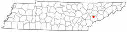 Location of Maryville, Tennessee