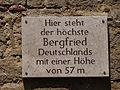 Tafel am Bergfried der Wasserburg Niederroßla.JPG