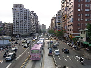 Roosevelt Road (Taipei) - Junction of Roosevelt Road and Shihda Road near Gongguan.
