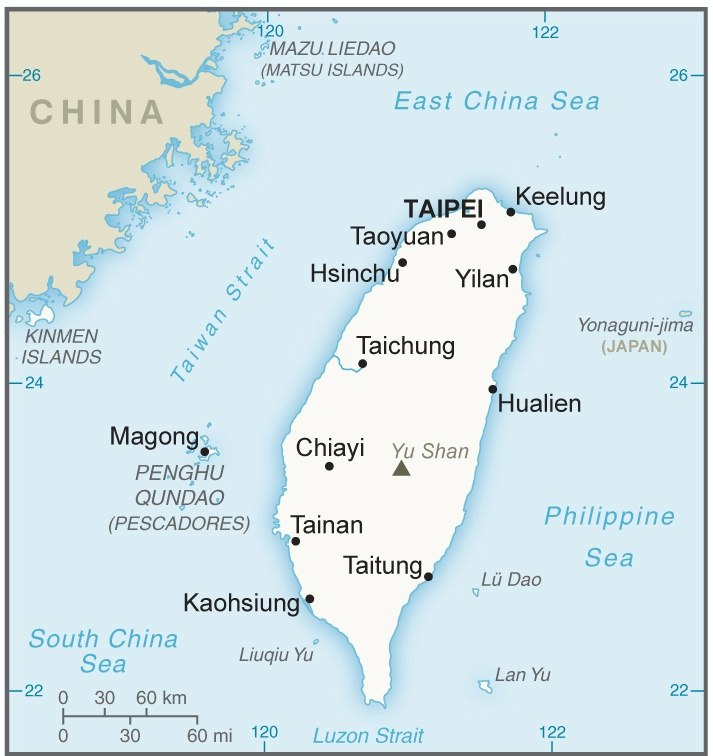 Taiwan CIA map updated