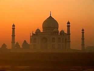 """<a href=""""http://search.lycos.com/web/?_z=0&q=%22Taj%20Mahal%22"""">Taj Mahal</a> in Agra"""