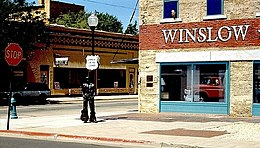 "Lo ""Standin' on the Corner Park"" di Winslow"