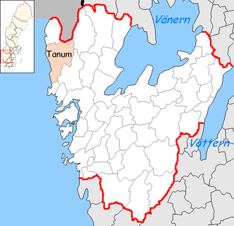Tanum Municipality - Image: Tanum Municipality in Västra Götaland County