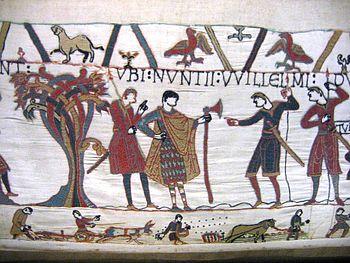 Scène de défrichement. Tapisserie de Bayeux, XIe siècle