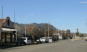 Tarkastad - The main street in Tarkastad, 2012