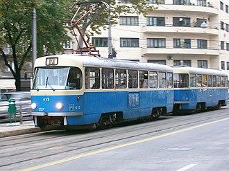 Tatra T4 - T4YU in Zagreb