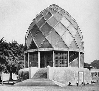 Expressionist architecture - Glass Pavilion at the Cologne Deutscher Werkbund Exhibition, 1914 (Bruno Taut)
