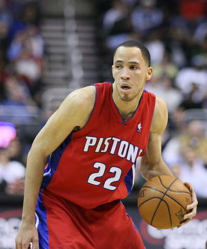 Tayshaun Prince - Prince with the Detroit Pistons in 2008