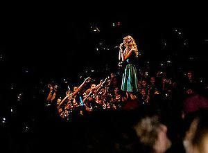 "Fearless Tour - Swift performing ""Tim McGraw"" during the Fearless Tour in 2009"