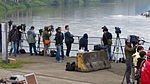 Television News Reporters Photographing Rescue Operation in Nanhu Riverside Park North 20150204.jpg