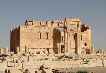 English: Temple of Bel, Palmyra, Syria Françai...