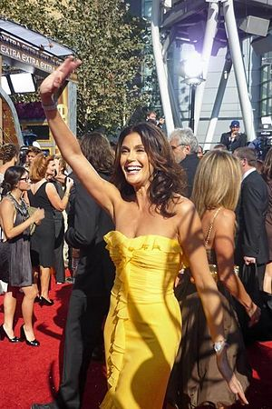 Red carpet fashion in 2008 - Image: Teri Hatcher 2008 Emmy Awards