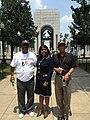 Terri Sewell with veterans at the World War II Memorial in 2012.jpg