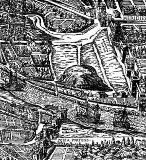 Monte Testaccio - The Testaccio district in 1625, showing Monte Testaccio surrounded by wasteland