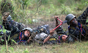 Royal Thai Army Infantry Soldiers practice bre...
