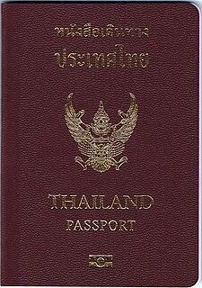 Thai passport passport