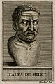 Thales of Miletus. Line engraving by Blanchard. Wellcome V0005771.jpg