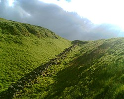 The Antonine Wall near Bar Hill Roman Fort, Twechar - geograph.org.uk - 846377.jpg