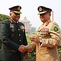 The Army Chief Bangladesh, Gen. Md. Abdul Mubeen, meeting the Chief of Army Staff, Gen. V.K. Singh, in New Delhi on December 01, 2011.jpg