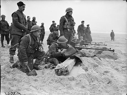 Men of the 1st Royal Welch Fusiliers fire Boys anti-tank rifles near Etaples, February 1940 The British Army in France 1940 F2441.jpg