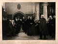 The Charterhouse, London; the Chapel, with a service in prog Wellcome V0013039.jpg