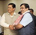 The Chief Minister of Assam, Shri Sarbananda Sonowal meeting the Union Minister for Road Transport & Highways and Shipping, Shri Nitin Gadkari, in New Delhi on October 24, 2016.jpg