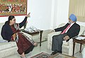 The Chief Minister of Rajasthan, Smt. Vasundhara Raje Scindia meeting with the Deputy Chairman, Planning Commission, Shri Montek Singh Ahluwalia to finalize Annual Plan 2006-07 of the State, in New Delhi on January 12, 2006.jpg